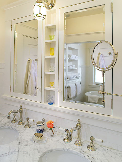 Medicine Cabinet Shelves | Houzz Built In Bathroom Medicine Cabinets