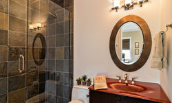 Traditional Bathroom with Modern Accents