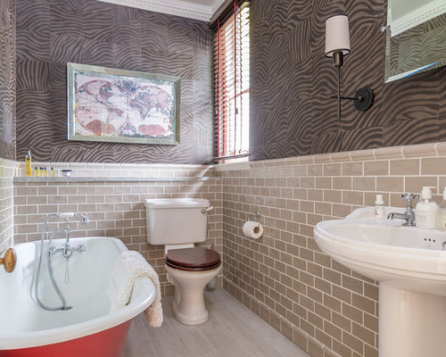 Bathroom design ideas renovations photos with a claw for Two piece bathroom ideas