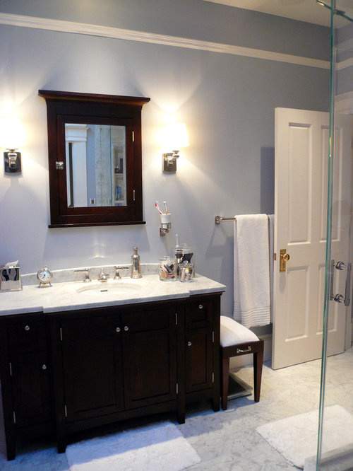 Gray Bathroom Blue Walls: Blue Heather Home Design Ideas, Pictures, Remodel And Decor