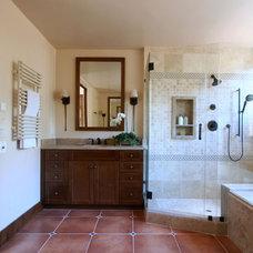 Traditional Bathroom by GoGo Creations