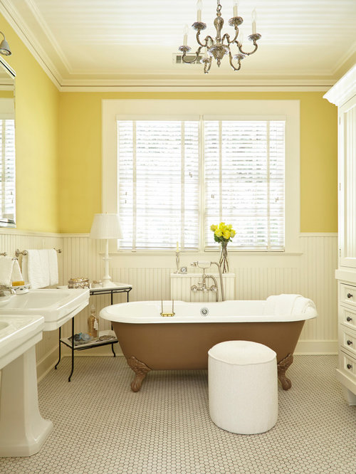 Bathroom Decor With Yellow Walls : Bathroom design ideas renovations photos with a claw