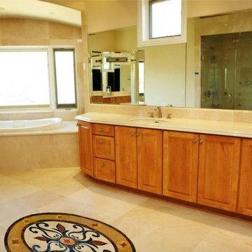 Traditional Crema Marfil Marble - Entire Bath