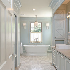 Transitional Bathroom by Mirador Builders