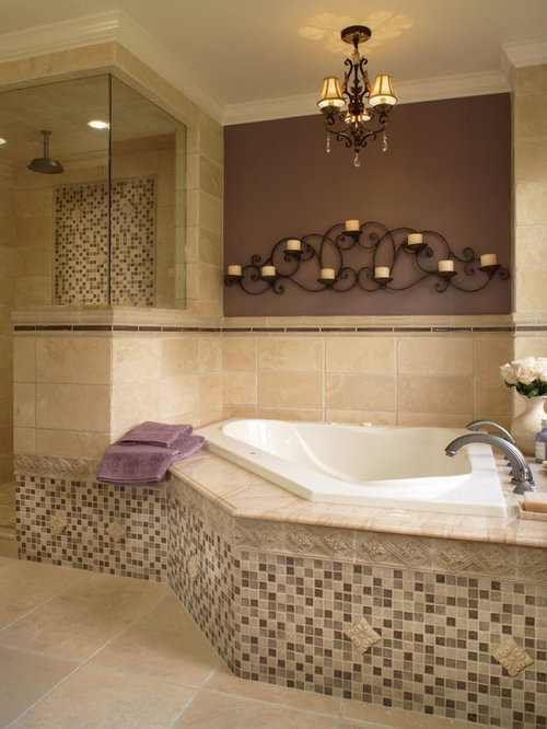 Elegant Bathroom Photo In Detroit With Mosaic Tile