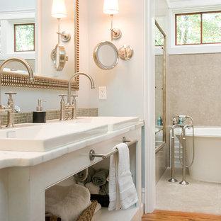 Inspiration for a timeless freestanding bathtub remodel in Atlanta