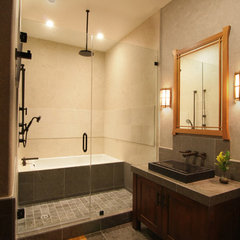 asian bathroom by Konni Tanaka Design Group