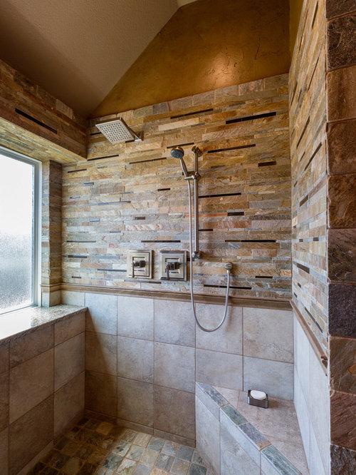 Wood Tile Floor Bathroom Master Bath