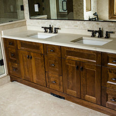 Eclectic Bathroom by Redrose Woodworking & Design Ltd.