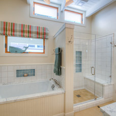 Beach Style Bathroom by Landmark Builders