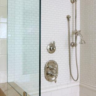 Subway Tile Walk In Shower Houzz