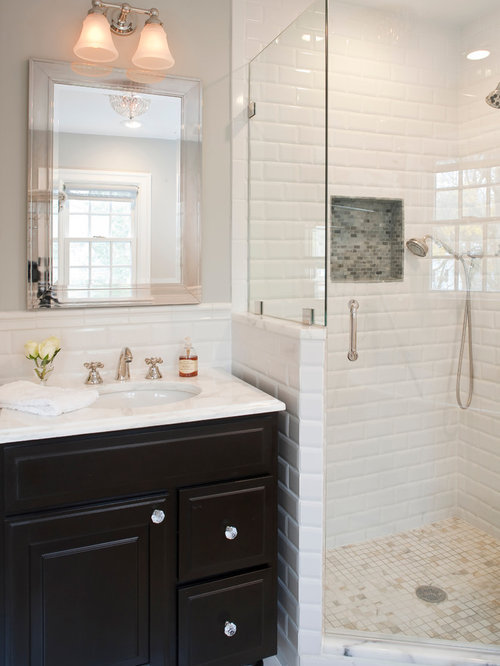 White Subway Tile Shower Ideas, Pictures, Remodel and Decor