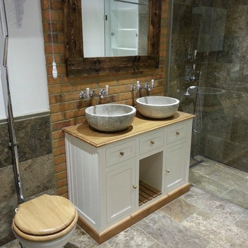 Traditional shower room in a Victorian Wandsworth Home
