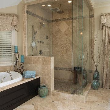 Traditional Spa Like Master Bath