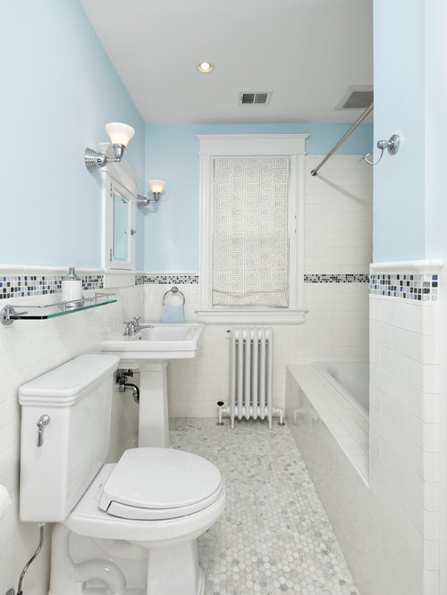 penny white navy blue tiles floor bathroom tile