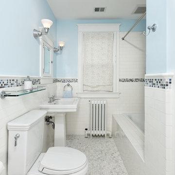 Traditional Subway Tile Bathroom