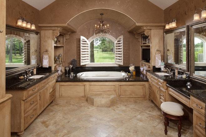Mediterranean Bathroom by Morning Star Builders LTD