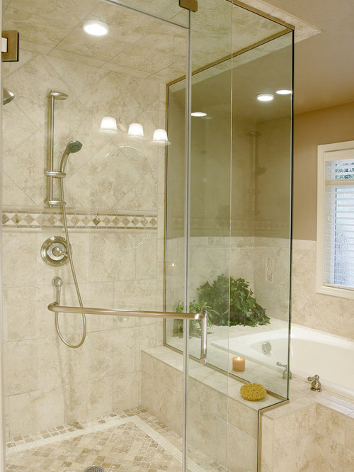 Travertine shower houzz Travertine bathroom pictures