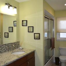 Transitional Bathroom by GREDER Designs LLC.