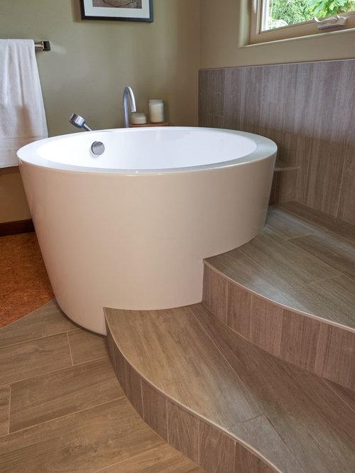 Fotos de baños | Diseños de baños con suelo de corcho