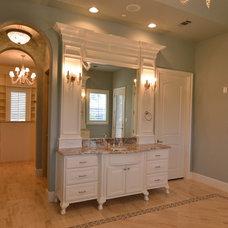 Transitional Bathroom by Custom Homes of Texas