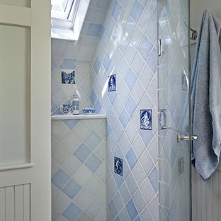 Example of a classic mosaic tile bathroom design in Burlington