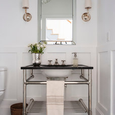 Transitional Bathroom by indi interiors