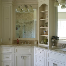 Transitional Bathroom by Kitchen Traditions Inc.