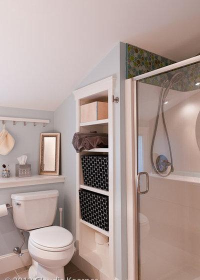bathroom recessed storage