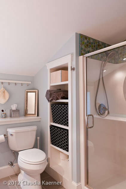 transitional bathroom by amydutton Home