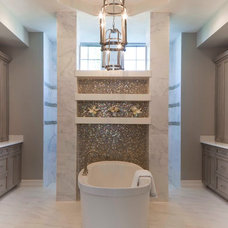 transitional bathroom by Beasley & Henley Interior Design