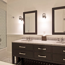 Transitional Bathroom by Benco Construction