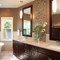Transitional Bathroom by Buffalo Plumbing Showroom