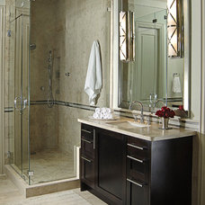 Transitional Bathroom by Denise McGaha Interiors
