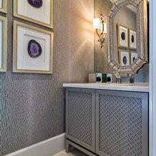 Transitional Bathroom by Palm City Millwork, Inc