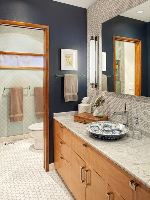 Navy bathroom home design ideas pictures remodel and decor for Navy bathroom decor