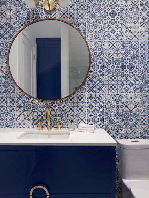 Best blue and gold bathroom design ideas remodel for Blue and gold bathroom ideas