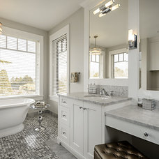 Transitional Bathroom by Joshua Lawrence Studios INC