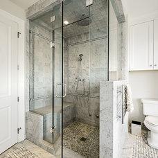 Transitional Bathroom by Joshua Lawrence Studios INC