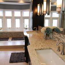 Transitional Bathroom by KSID Interiors, Inc.