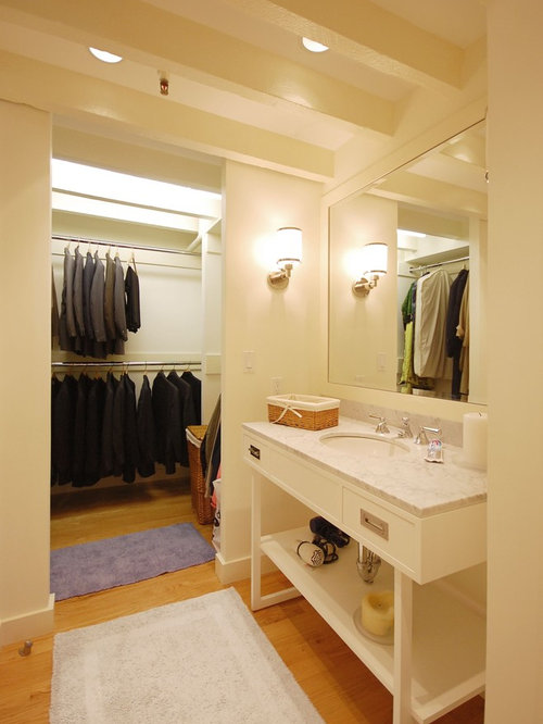 Mirrored bathroom vanity - Condo Closet Home Design Ideas Pictures Remodel And Decor