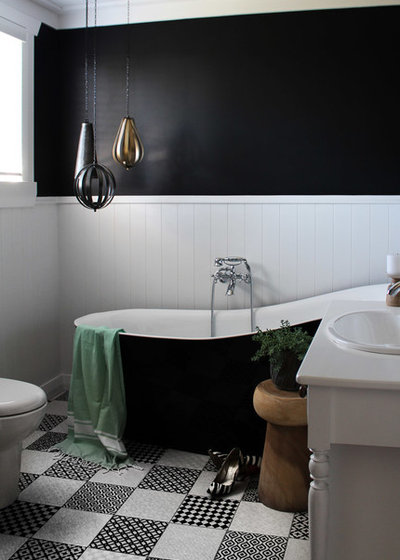 Transitional Bathroom by Lou Brown Design