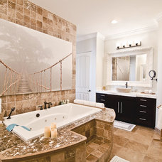 Transitional Bathroom by Mackenzie Collier Interiors