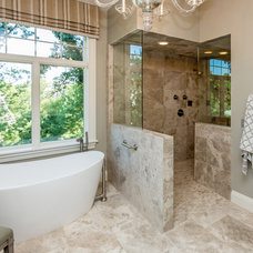 Transitional Bathroom by Meghan Blum