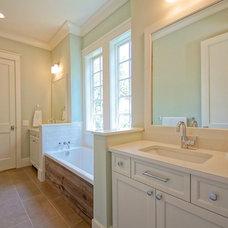 Transitional Bathroom by Melissa Lenox Design