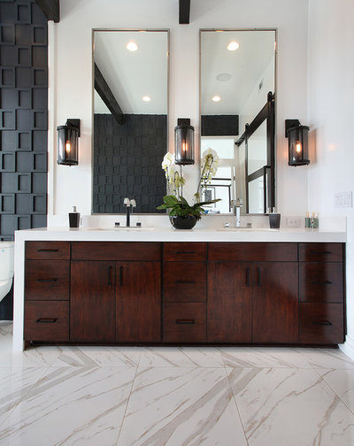 Transitional Bathroom by M S International, Inc.