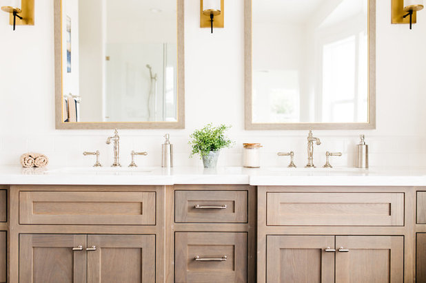 Cool Transitional Bathroom by Pacific Edge Builders