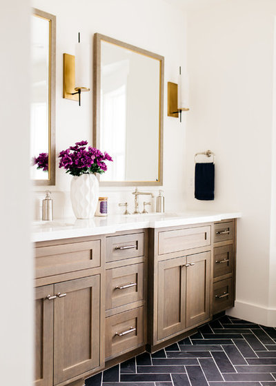 Stunning Transitional Bathroom by Pacific Edge Builders
