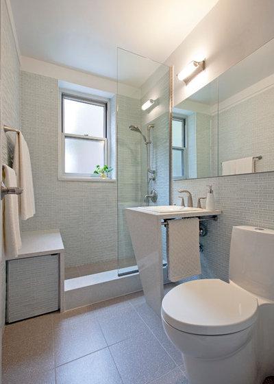 20 astuces rangement pour optimiser une petite salle de bains - Sechoir salle de bain mural ...