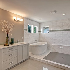 Transitional Bathroom by Quadrant Homes